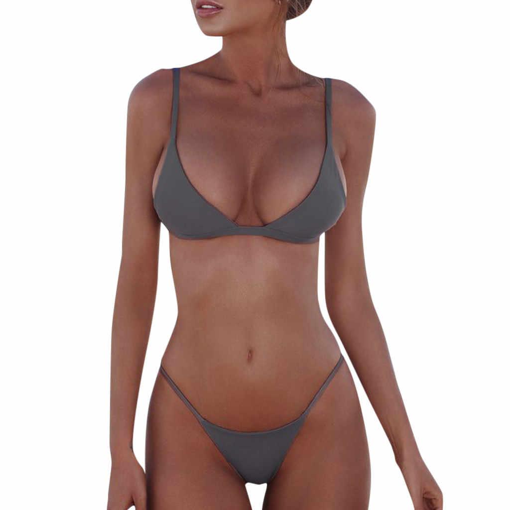 Grande brasileiro de cor sólida roupa de banho homem beachwear peça maiô feminino bandagem conjunto de biquíni push-up vestidos de playa # zh