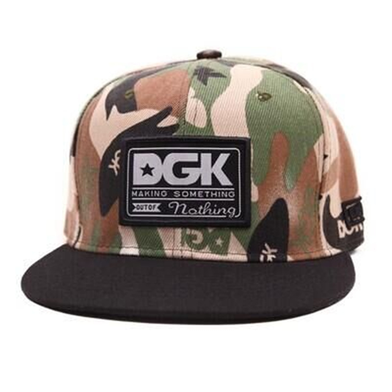 2016 camouflage cap unisex baseball caps DGK adjustable snapback gorras hats for men fashion cap women