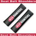 2x cinturón de seguridad del coche cubierta del cinturón de ajuste del cinturón dispositivo para los niños del niño del bebé protector de cinturón de seguridad para kia