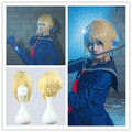 MCOSER High Quality Lovelive 45cm Short Blonde Girls Cosplay Fate zero-Saber Fashion Synthetic Anime Cosplay Full Wig
