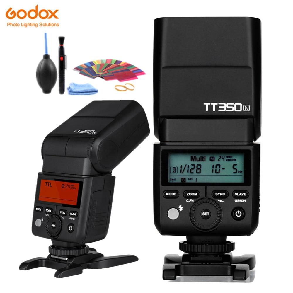 Godox 2.4G TTL HSS TT350N TT350 N Caméra Flash Flash X1T N Transmetteur Pour Nikon D5300 D800 D7100 D7500 D90 D610 D500 D5600-in Clignote from Electronique    1