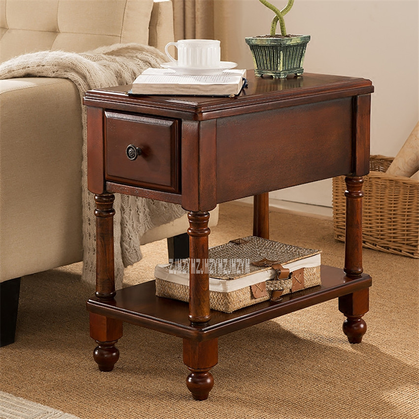 TS-980 Living Room MDF Solid Leg Wood Coffee Table End Table ...