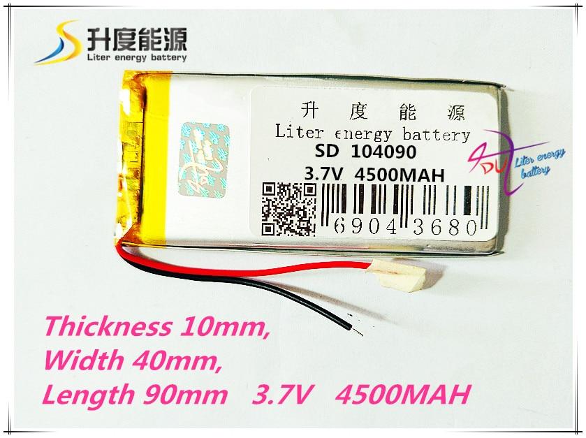 Unterhaltungselektronik Ehrlichkeit Beste Batterie Marke 104090 3,7 V 4500 Mah Lithium-polymer-batterie Batterie Spielzeug Spot Eine Gps Navigation Produkte Digital Batterien