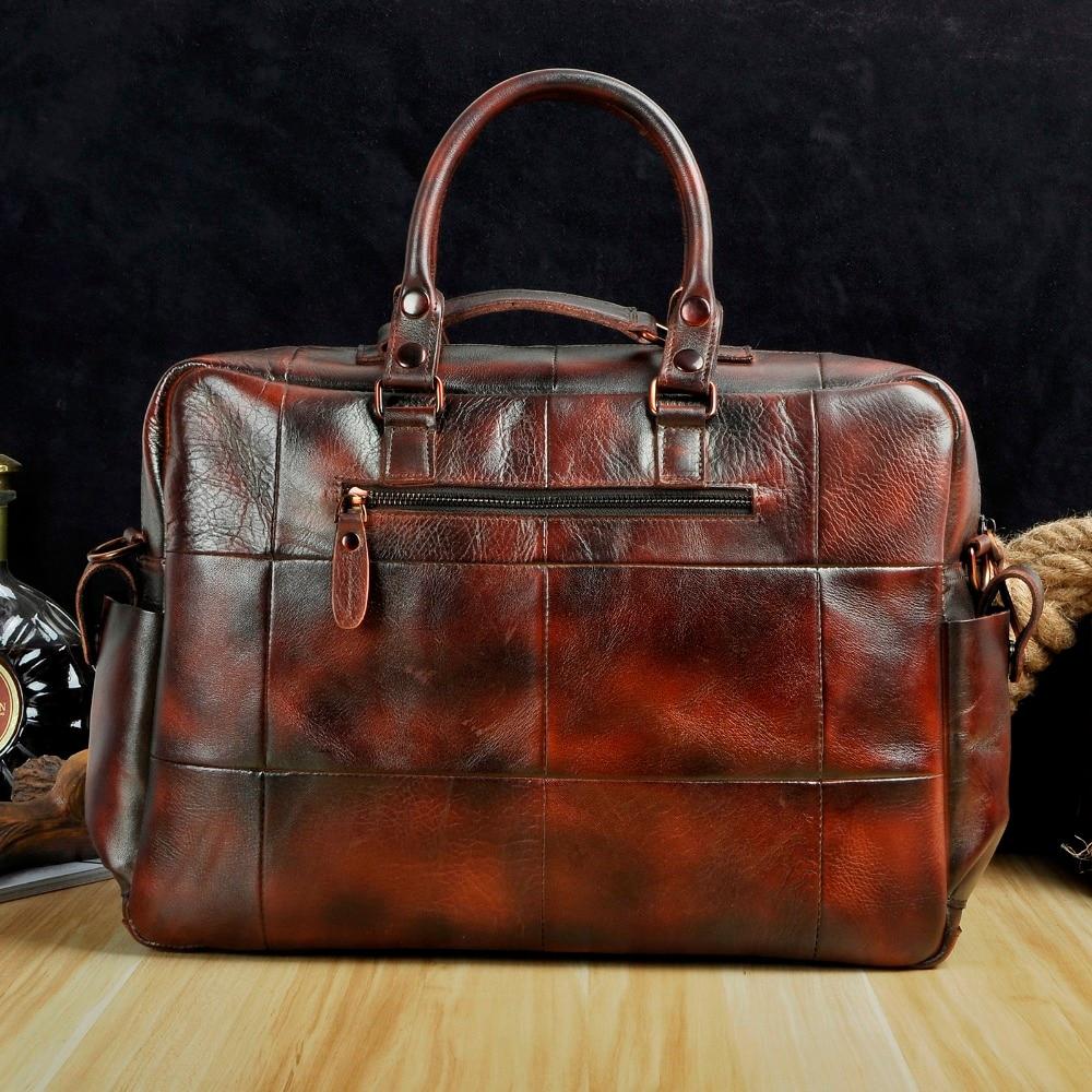 Original leather Men Fashion Handbag Business Briefcase Commercia Document Laptop Case Design Male Attache Portfolio Bag Original leather Men Fashion Handbag Business Briefcase Commercia Document Laptop Case Design Male Attache Portfolio Bag 3061-bu