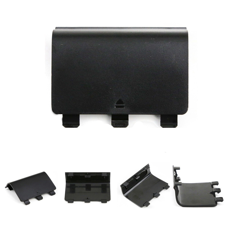 Black Gamepad Battery Cover Lid Shell Replacement ABS Battery Cover Door Back Covers for XBOX One Wireless Controller