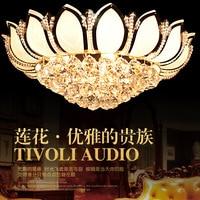 Luces de techo de cristal Golden K9 lámparas de lujo plafondlamp plafonnier led lámpara de techo moderna cristal kristall deckenleuchte