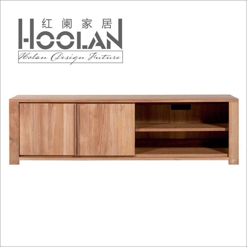 Nordic Ikea Minimalist Modern Oak Wood Tv Cabinet Ash Square