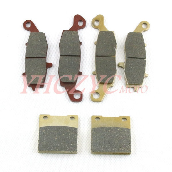 ФОТО For Suzuki SV400 1992-2002 SV650 1992-2002 motorcycle front and rear brake pads set