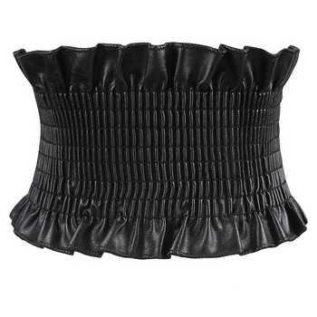 Autumn PU Dress Belt For Women Super Wide Elastic Belt Corset For Women High Waist Belt Corset Girdle Cinto Feminino Black Red - DISCOUNT ITEM  8% OFF All Category