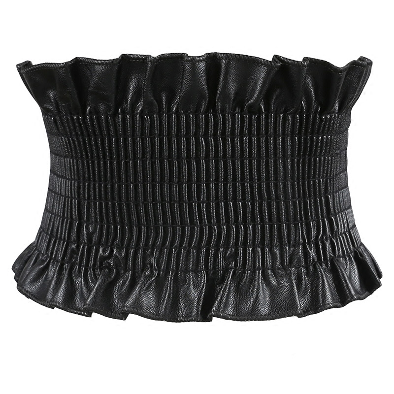 Autumn PU Dress   Belt   For Women Super Wide Elastic   Belt   Corset For Women High Waist   Belt   Corset Girdle Cinto Feminino Black Red