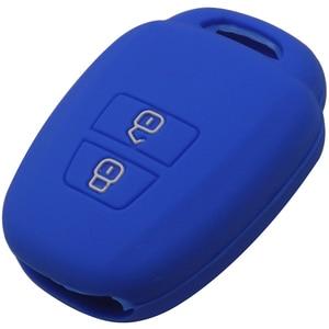 Image 4 - jingyuqin Remote Key Case Fob Shell Cover For Toyota Aqua Ractis Vitz RAV4 HiAce Land Cruiser Skin Holder 2 Button 2010 2019