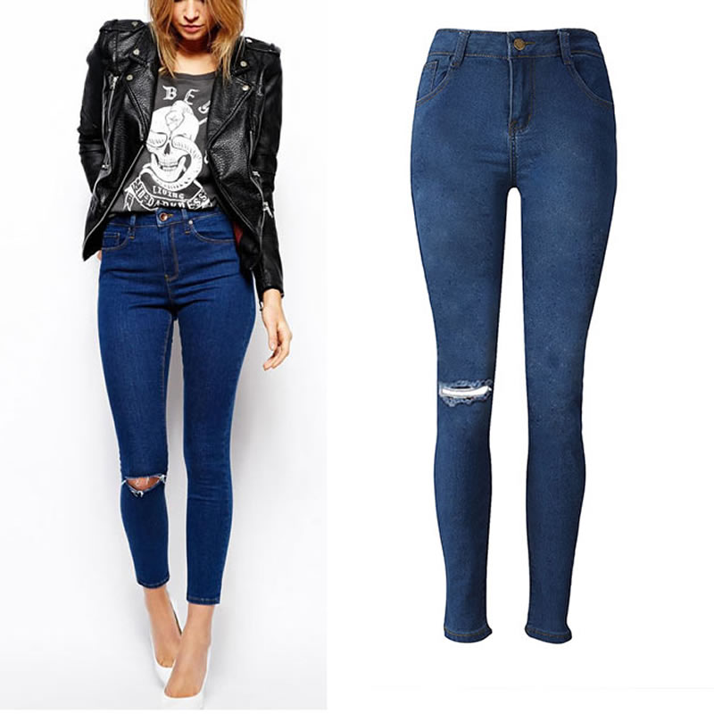 1c385b08527 -font-b-Top-b-font-quality-font-b-ladies-b-font-high-waist-elastic-slim pantalones  vaqueros altos de cintura ...