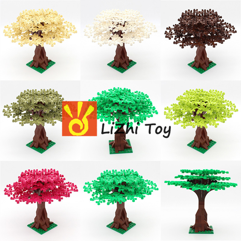 Enlighten Plant Garden Park Building Block Parts Animals Trees Plants Flowers Fruits Compatible with All Major Brands