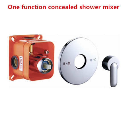 Wall mounted concealed shower mixer in-wall shower mixer controller shower faucet bathroom wall mixer easy install