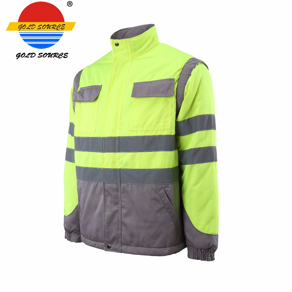Factoray On Sales Cheap Long Sleeves Twill Industry Workwear Construction Jackets Durable Service Workplace Safety Supplies Security & Protection