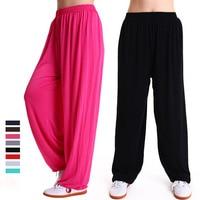 Men Women Modal Arts Pant Modal High Waist Harem Soft Sport Pants Loose Long Tai Chi Dance Bloomers Youga Dancing Trousers