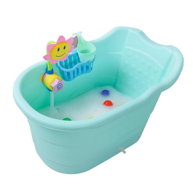 Baby Bath Basin Babies Household Bathtub Colorful Cartoon Child ...