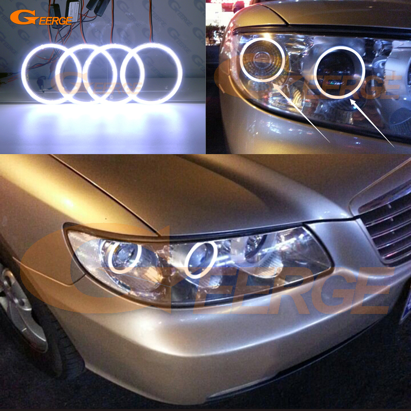For Hyundai azera 2006 2007 2008 2009 2010 Excellent angel eyes Ultra bright illumination COB led
