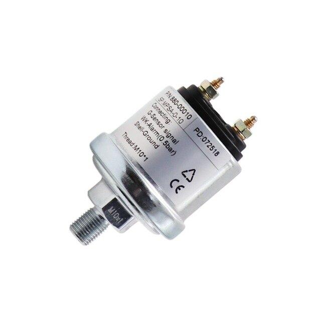 Motor yağı basınç sensörü ölçüm aralığı 0 ~ 5 Bar /0 ~ 10 Bar için fit araba tekne yağ basınç göstergesi gönderen M10 ve NPT 1/8