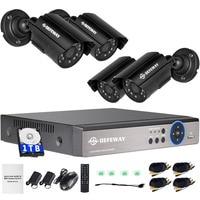 DEFEWAY 1080N DVR 1200TVL 720P HD Outdoor Security Camera System 1TB Hard Drive 4CH DVR CCTV Surveillance Kit AHD Camera Set