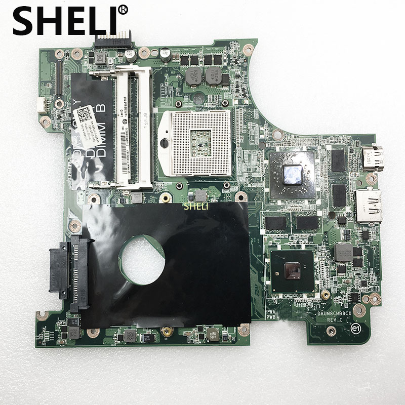 SHELI For Dell N4010 Laptop Motherboard CN-0951K7 0951K7 951K7 DAUM8CMB8C0 Notebook Pc Mainboard HM57 HD5650 1G DDR3 Test Ok