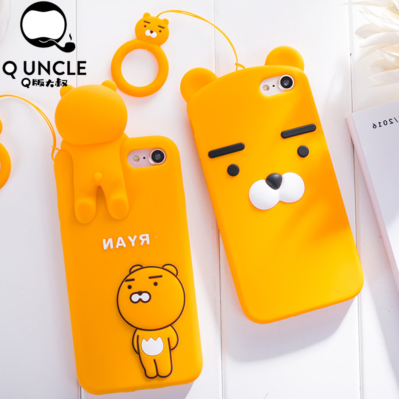 Q UNCLE For iPhone X 6 6s 7 8 Plus Korean Ryan Phone Cases F
