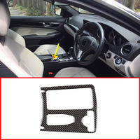 Real Carbon For Mercedes Benz C Class W204 2008 2013 Central Console Cup Holder Frame Trim Right Hand Drive and Left Hand Drive