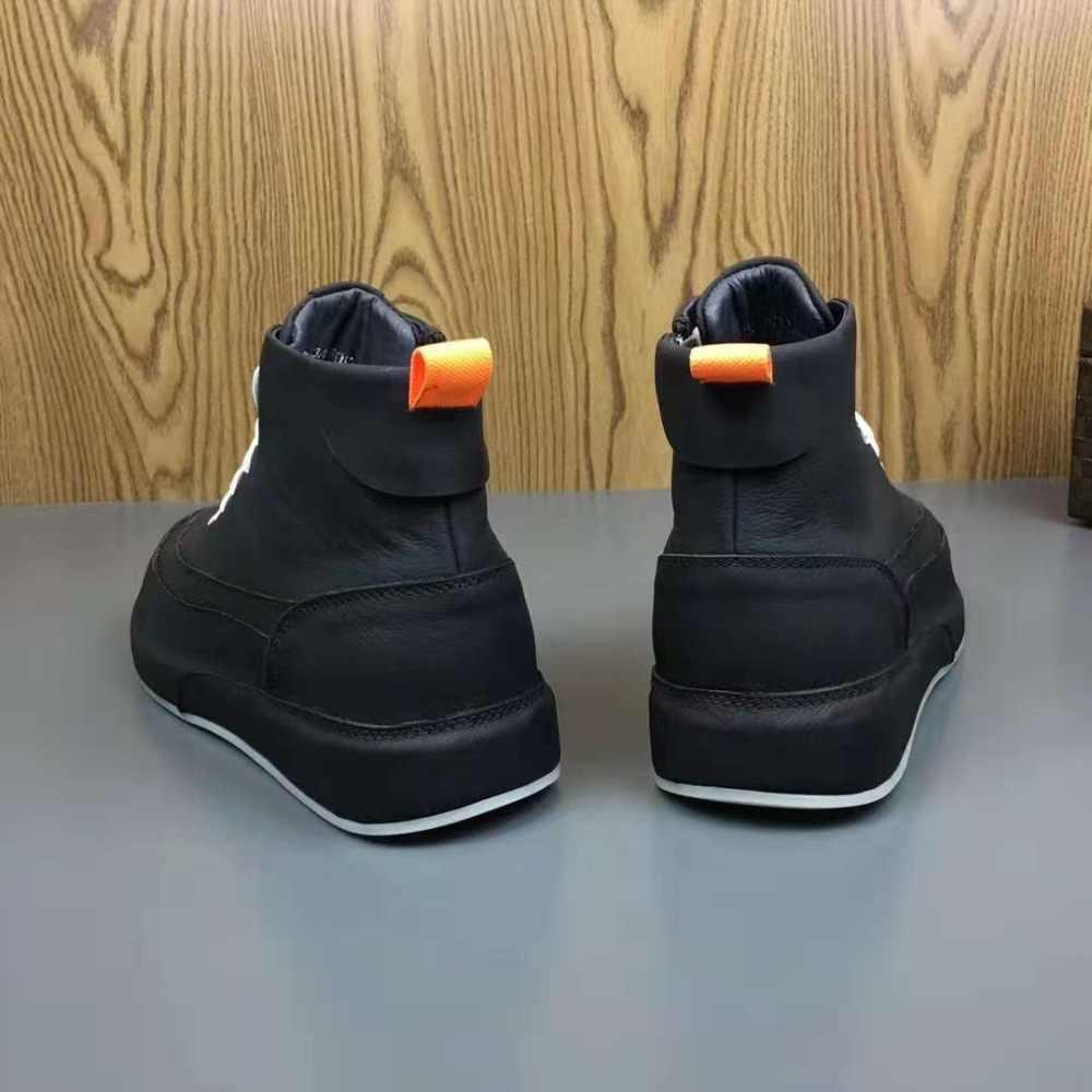 Горячая Распродажа, новые модные классные мужские туфли высококачественные мужские кроссовки черные Брендовые повседневные ботильоны из натуральной кожи на плоской подошве размер 38-44