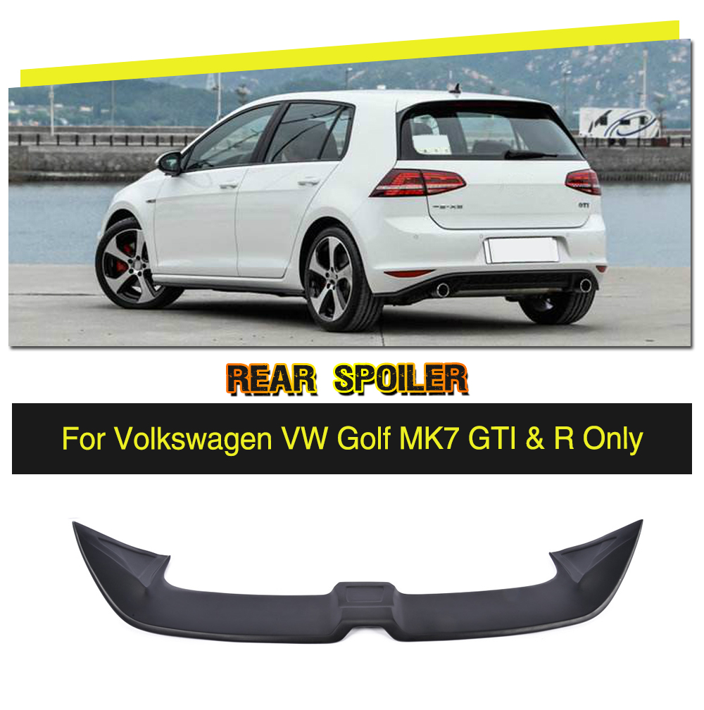 Golf MK7 O Styling FRP Car Rear Roof Boot Lip Spoiler Wing for Volkswagen VW Golf VII MK7 GTI & R 2014-2017 car rear trunk security shield cargo cover for volkswagen vw tiguan 2016 2017 2018 high qualit black beige auto accessories