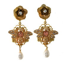 Vintage Baroque Earrings European Fashion Gold Color Earring Metal Bee Style Jewelry For Women