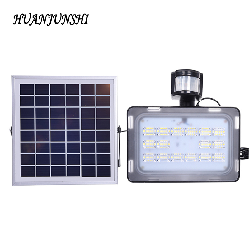 2pcs LED Solar Floodlight 30W Outdoor Lighting LED Solar Flood Light 5730 SMD Yard Street Path Landscape Seucrity Lamp DC12V 24V 30% off 2pcs ultrathin led flood light 50w black ac85 265v waterproof ip66 floodlight spotlight outdoor lighting free shipping