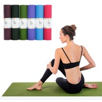 TPE Yoga Mat 8mm Friendly Tasteless Anti Slip Fitness Yoga Mat Pilates Gymnastics Bikram Meditation Towel High Density Thick