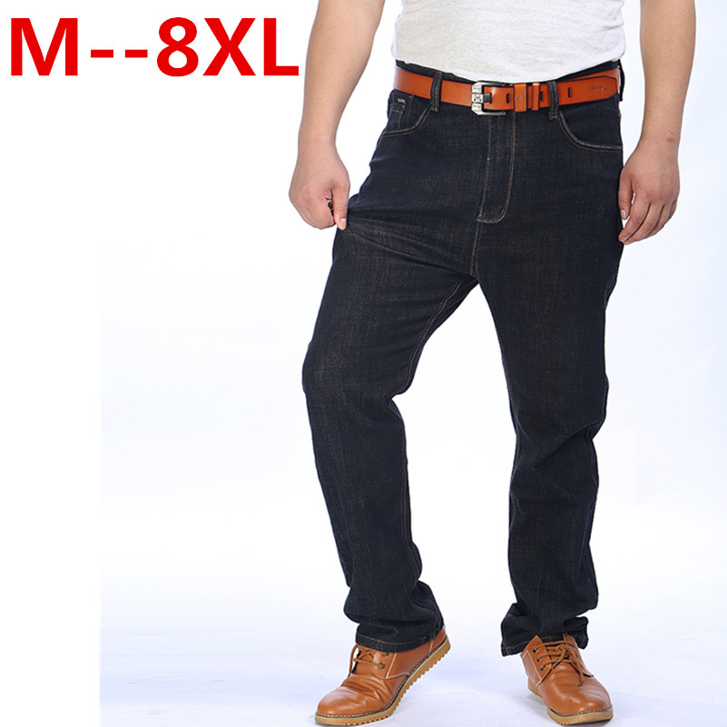 52 50 9XL 8XL 6XL 5XL kot % 2016 Pamuk moda tasarımcısı yüksek Qualtiy Erkekler Jeans denim pantolon kot toptan Yüksek kaliteli kot