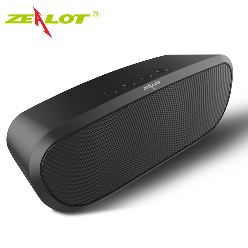 Original ZEALOT S9 Portable Wireless Bluetooth 4.0 Højttalerstøtte TF Card AUX U Disk Outdoor Speaker Party Musikboks