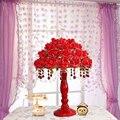 Теплый романтический Красный цветок лепесток настольная лампа Европейский свадебные украшения лампы творческий украшения дома лампа