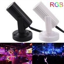 1 RGB контроллер Светодиодный луч сценический прожектор мини 1 Вт Супер яркая лампа для дискотеки, клуба KTV студийное освещение для вечеринки эффект AC85-265V