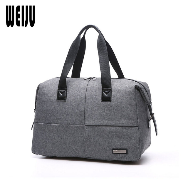 Weiju Canvas Men Travel Bag 2017 New Business Casual Traveling Large Capacity Bags Hand