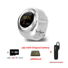 2G спортивные Смарт-часы Y1 SIM/tf-карта bluetooth Смарт-часы для Apple Watch 3 xiaomi huawei samsung gear s3 relogios pk DZ09 GT08(China)