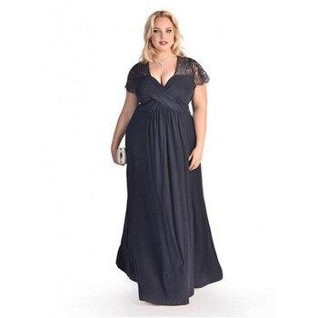 95a029e00 Vestido de maternidad de encaje largo de verano 6XL para mujeres  embarazadas ropa vestido de mujer de manga corta vestido de embarazo