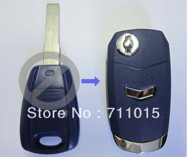 fiat 1 button flip remote key blank