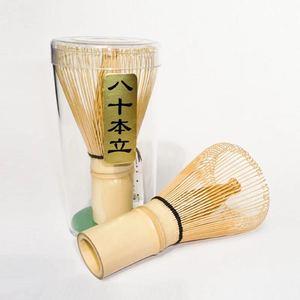 Бесплатная доставка Матча бамбуковые венчики чайные наборы, бамбук 80 зубцов венчики и ложка для чая, которые упаковываются в полиэтиленовы...