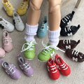 One pair 3cm fashion classic PU doll sport shoes accessories for 1/6 BJD blyth Pullip Licca Azone Barbi dolls accessories