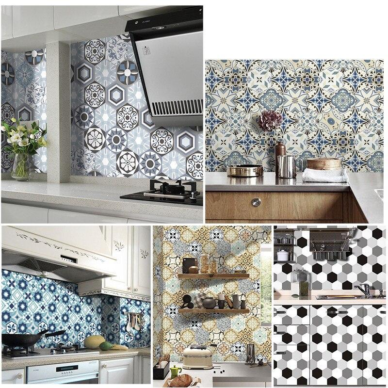 European Imitation Ceramic Tile Floor High end Wall Sticker Living ...