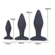3pcs/set S/M/L Smooth Silicone Anal Butt Plug Backyard Anus Dilator Prostate Massage Sex Toys For Women Man Gay Adult Toy