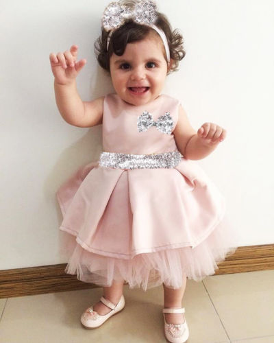 Sequin Toddler Baby Girls Dress Bowknot Tulle Pageant Dress Headbands Wedding Form Children Girl Dress 0-4T day dress