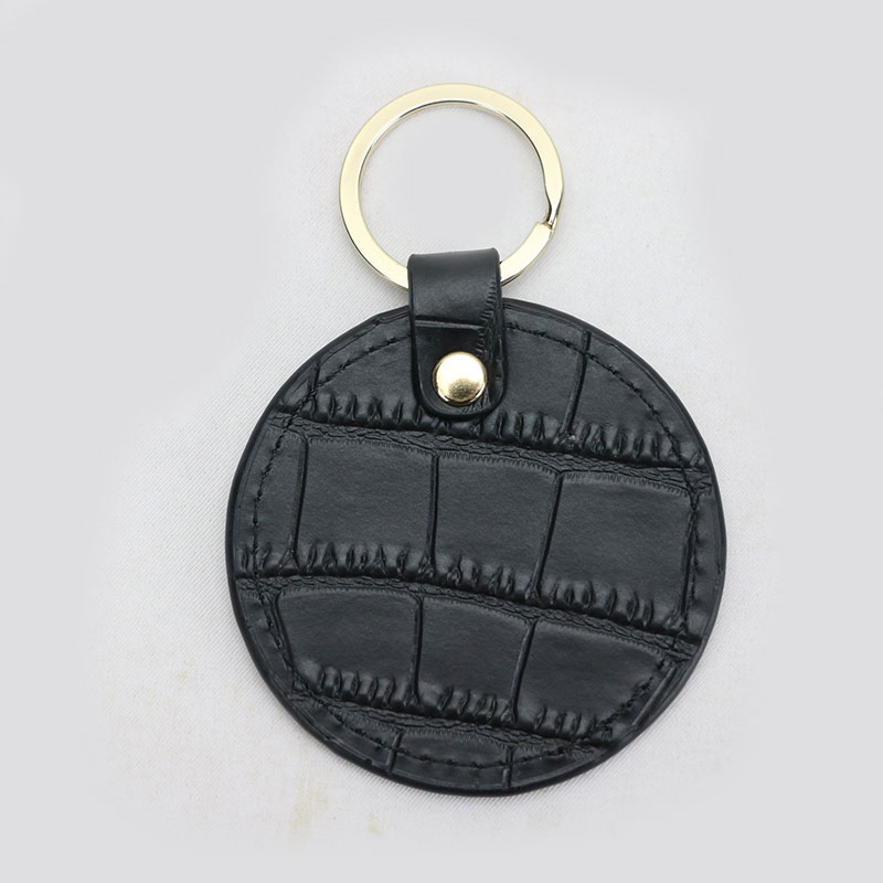 New design free customed initials letters crocodile pattern or saffiano leather round key chain  key ring key walletNew design free customed initials letters crocodile pattern or saffiano leather round key chain  key ring key wallet