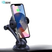 FDGAO Qi Беспроводное Автомобильное зарядное устройство 15 Вт макс Авто зажимное 10 Вт Быстрая зарядка автомобильный держатель телефона для samsung S10 S9 S8 iPhone 8 11 X XR XS