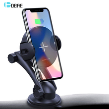 FDGAO Qi Wireless Car Charger 15W Max Auto Clamping 10W Fast Charging ผู้ถือโทรศัพท์สำหรับ Samsung S10 s9 S8 iPhone 8 11 X XR XS