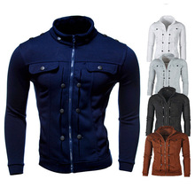 Knitwear Jacket Knitting Men's Warm Sweaters Cardigan Outwear Winter Thick Hooded