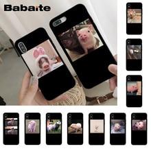 Babaite милый маленький розовый питомец свинья Роскошный чехол для телефона для iPhone 8 7 6 6S Plus X Xs Xr XsMax 5 5S SE 5c Cover11 11pro 11promax